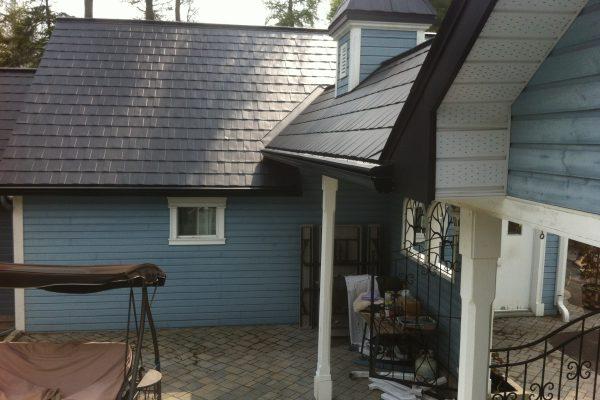 Aluminium roof view